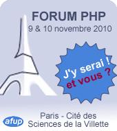 Forum PHP 2010, j'y serai ! Et vous ?