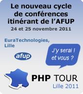 PHP Tour Lille 2011, j'y serai ! Et vous ?